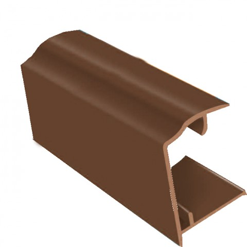 PVC Sheet Closure 2.1m x 25mm Brown