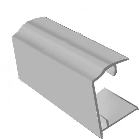 PVC Sheet Closure 2.1m x 25mm White