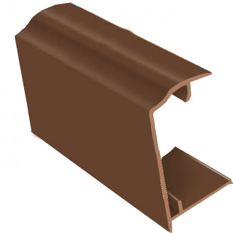 PVC Sheet Closure 2.1m x 35mm Brown