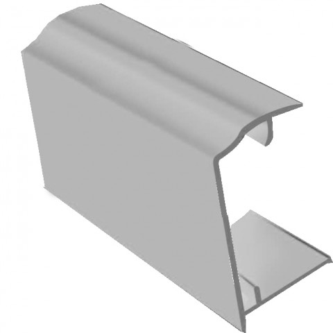 PVC Sheet Closure 2.1m x 35mm White