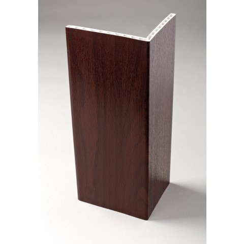 100 x 80 x 6mm x 5m Rigid Hollow Angle Trim Rosewood
