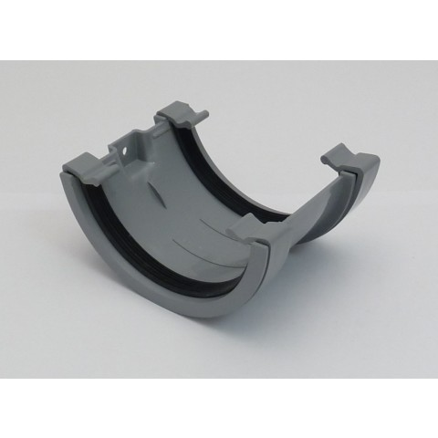 112mm Half Round Gutter Union Bracket Grey
