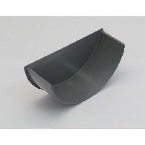 112mm Half Round Gutter Internal Stopend Grey