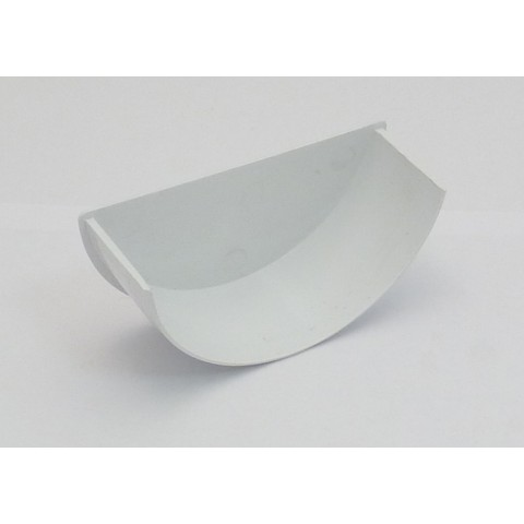 112mm Half Round Gutter Internal Stopend White