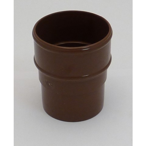 68mm Round Downpipe Connector (Brown)