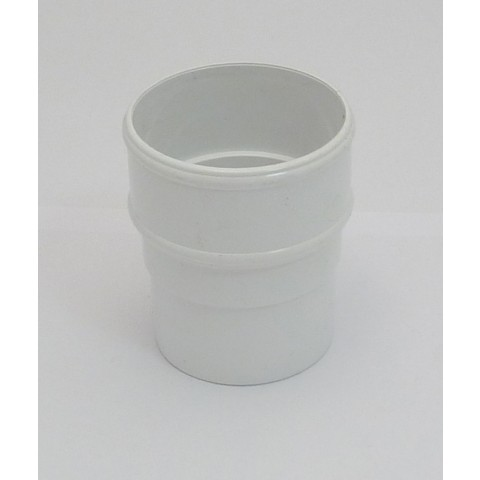 68mm Round Downpipe Connector White