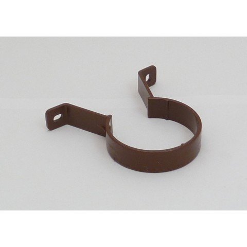 68mm Round Downpipe Pipe Clip Brown
