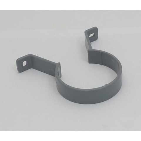 68mm Round Downpipe Pipe Clip Grey
