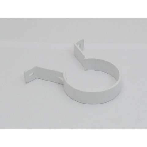 68mm Round Downpipe Pipe Clip White