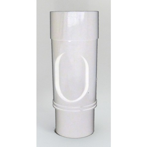 68mm Round Downpipe Access Pipe White