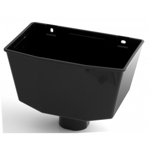 Universal Downpipe Hopper Black