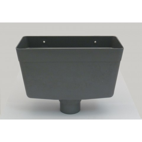 Universal Downpipe Hopper Grey