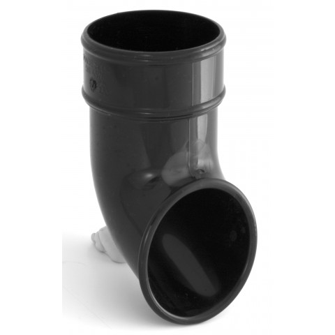 68mm Round Downpipe Shoe Black