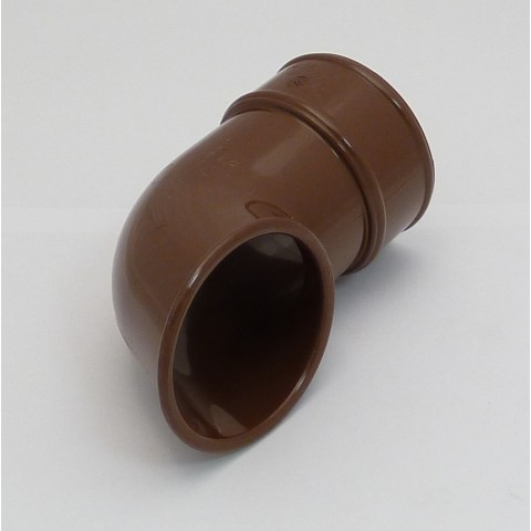 68mm Round Downpipe Shoe Brown