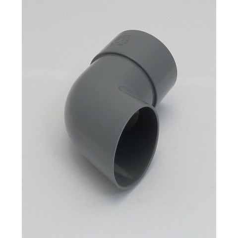 68mm Round Downpipe Shoe Grey
