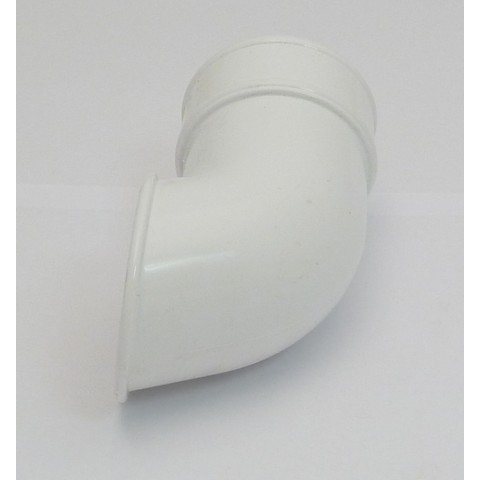 68mm Round Downpipe Shoe White