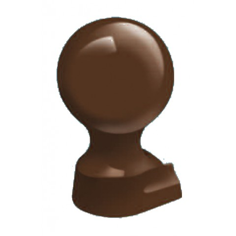 Alumininium Small Ball Finial Brown