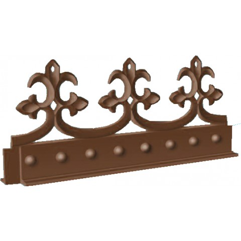 PVC Antique Crest 245mm Length Brown