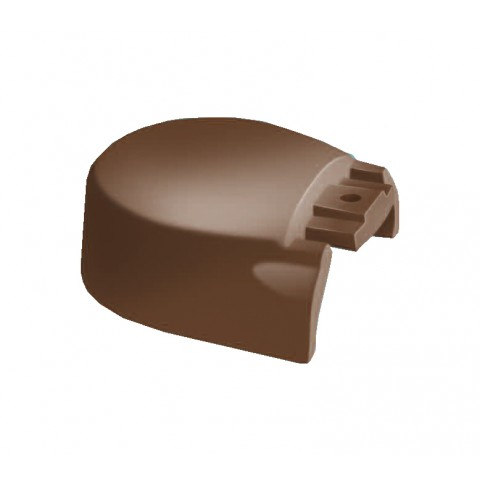 Alu Ridge 100mm Cap End Cap Brown