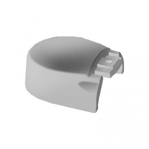 Alu Ridge 100mm Cap End Cap White