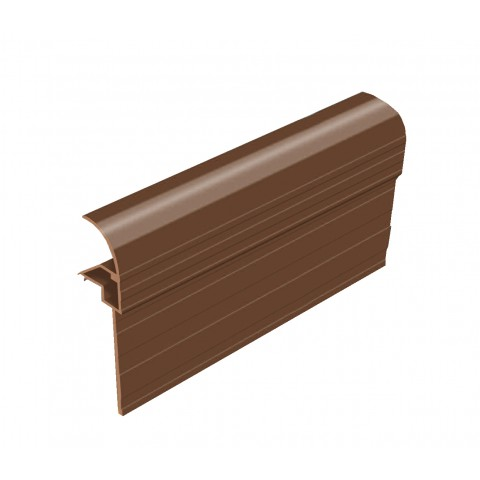 Snap Down Gable End Finishing Profile Brown