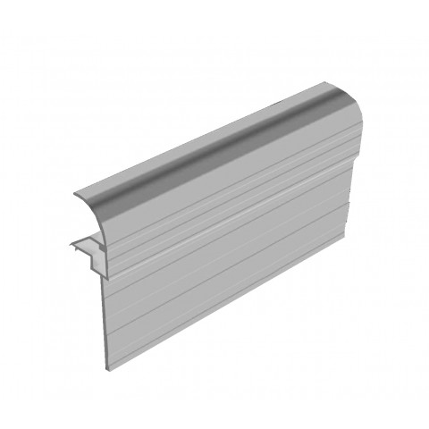 Snap Down Gable End Finishing Profile White
