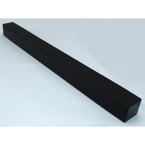 Double Ended External 600mm Square Fascia Corner Black Ash