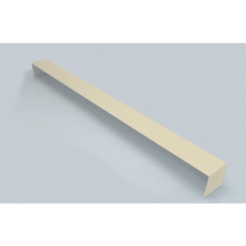 Double Ended External 600mm Square Fascia Corner Cream