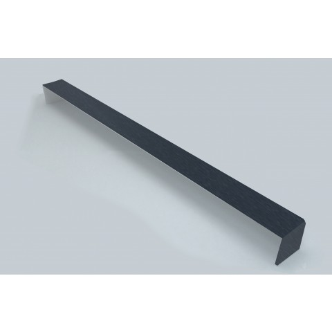 Double Ended External 450mm Square Fascia Corner Smooth Dark Grey RAL7016