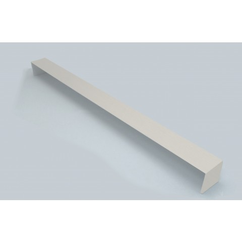 Double Ended External 600mm Square Fascia Corner White Ash