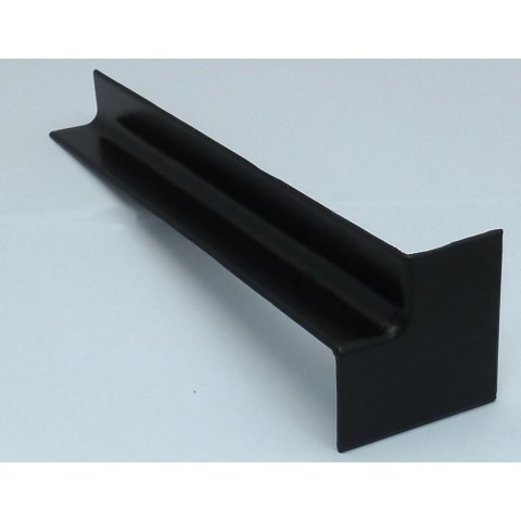 Internal 300mm Square Fascia Corner Black Ash