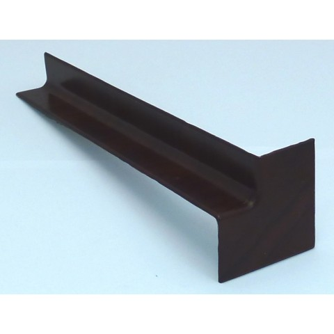 Internal 300mm Square Fascia Corner Rosewood