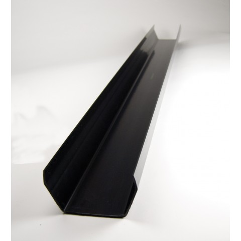 117mm Square Gutter 4m Length Black