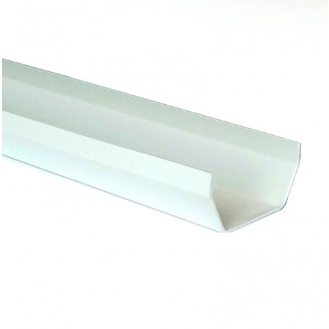 117mm Square Gutter 4m Length White
