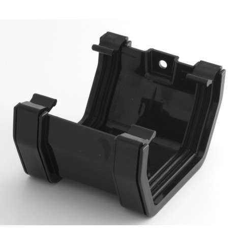 117mm Square Gutter Union Bracket Black