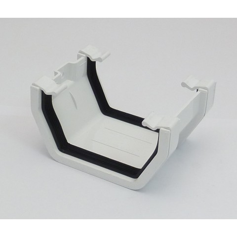 117mm Square Gutter Union Bracket White
