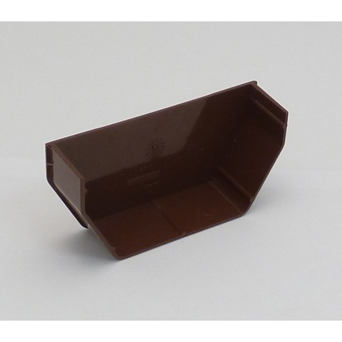 117mm Square Gutter Internal Stopend Brown