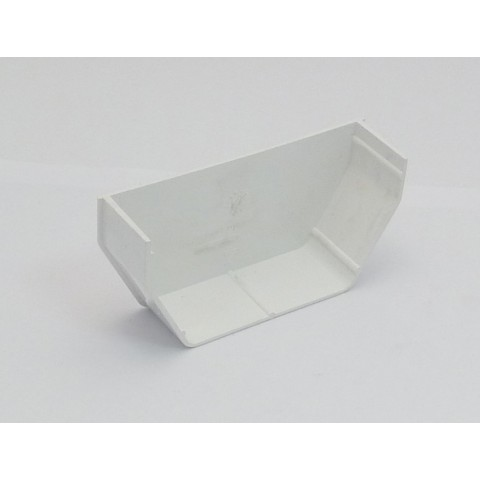 117mm Square Gutter Internal Stopend White