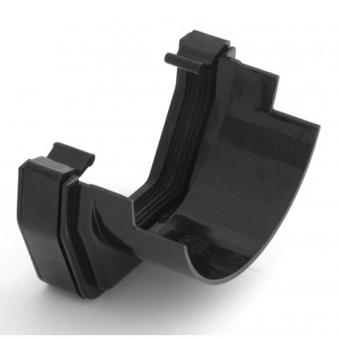 117mm Square Gutter Square to Half Round Adaptor Black