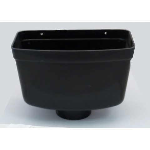 110mm Soil Pipe Rainwater Hopper Black