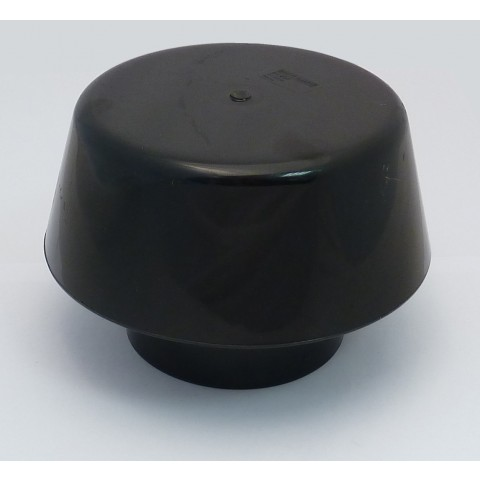 110 mm Soil Pipe Extract Cowl Black