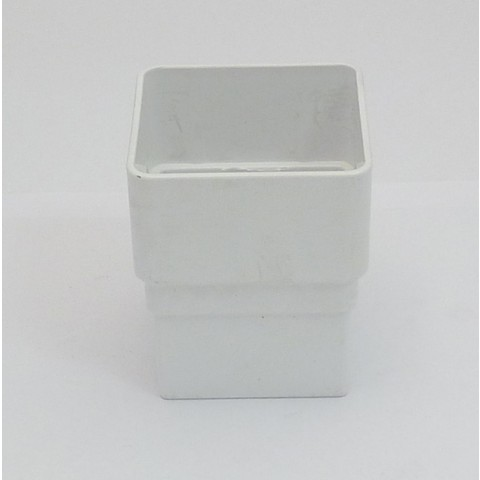 65mm Square Downpipe Connector White