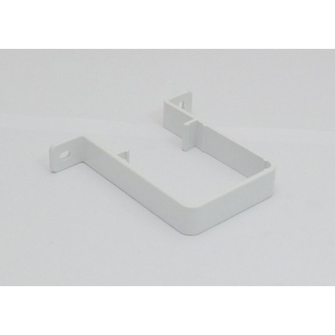 65mm Square Downpipe Pipe Clip White