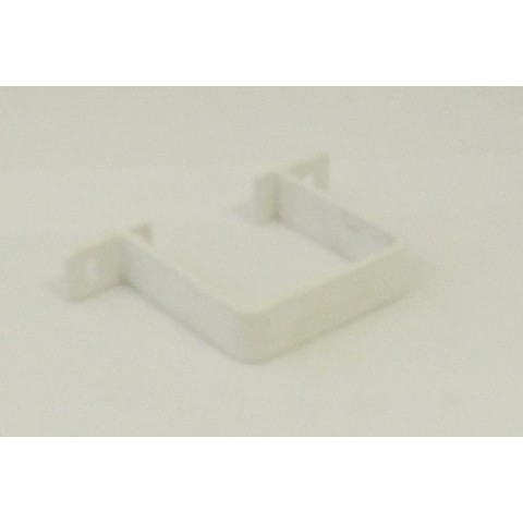 65mm Square Flush Fit Downpipe Pipe Clip White