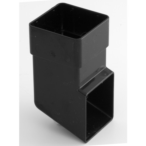 65mm Square Downpipe Shoe Black