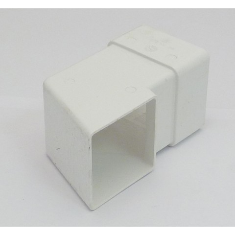 65mm Square Downpipe Shoe White