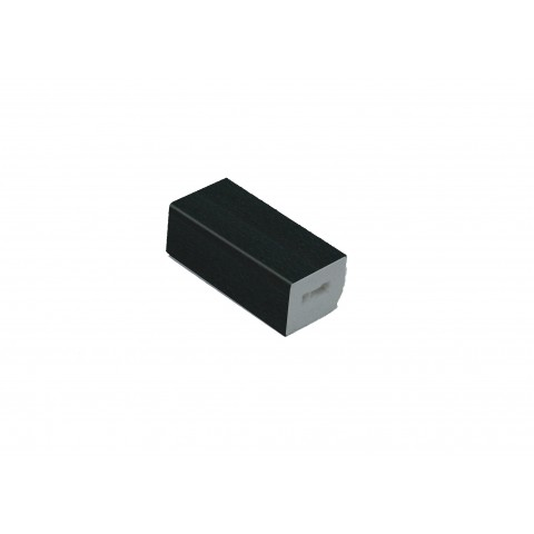 15 x 13mm Block Black Ash