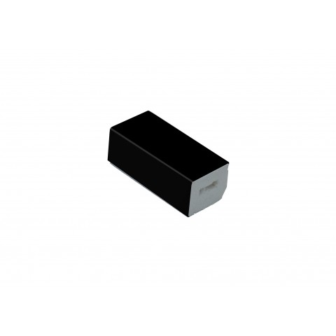 15 x 13mm Block Matt Black