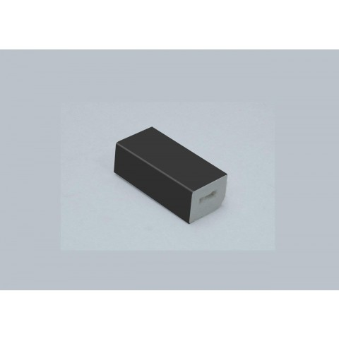 15 x 13mm Block Smooth Dark Grey