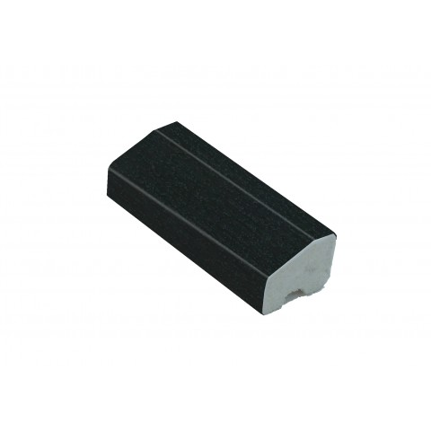 18 x 12mm Chamfered Block/Bead Trim Black Ash